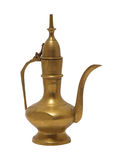 Brass Aladdin Lamp. Isolated with clipping path stock photos