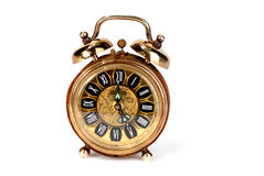 Brass alarm clock Stock Photography