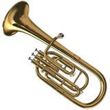Brass Alto Horn Stock Images