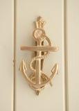 Brass anchor door knocker Stock Images