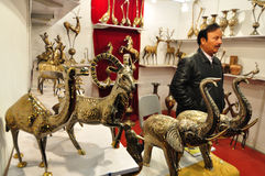 Brass animal statues from Pakistan Stock Photography