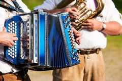 Brass band in Bavaria Royalty Free Stock Photography