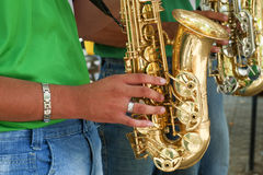Brass band of Brazil Stock Photos