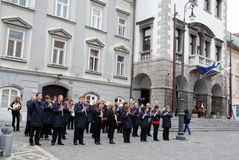 Brass band Brda Stock Photos