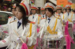 Brass band during chinese new year 2014 in Paris Royalty Free Stock Images