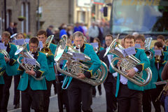 Brass Band Contest. Band marching at the Saddleworth Brass Band Contest on the 28th of May, 2010 Stock Photography