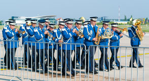 Brass band militare Fotografia Stock