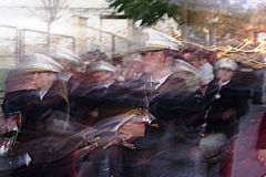 Brass band in motion 9 Royalty Free Stock Photo