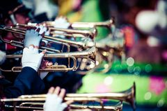 Brass band parade Stock Photo