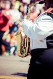 Brass band parade. In USA Stock Photos