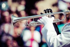 Brass band parade Royalty Free Stock Image