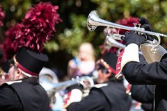 Brass band parade Stock Images