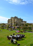 Brass band playing at Culzean Castle, Ayrshire. Culzean Castle, UK - 20th May 2012: A brass band playing in the grounds of Culzean Castle, a neoclassical mansion Stock Photo