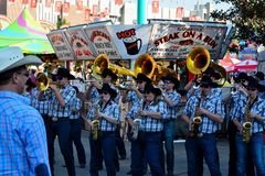 Brass Band Playing on Midway Royalty Free Stock Photo