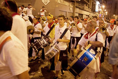 Brass band at San Fermin fiesta Royalty Free Stock Photography