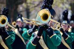 Brass band section Royalty Free Stock Images