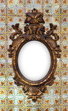 Brass Baroque Frame Royalty Free Stock Photography