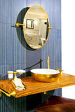 Brass bathroom Royalty Free Stock Photography