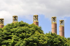 Brass bell towers. Royalty Free Stock Image