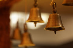 Brass bells in decoration Stock Image