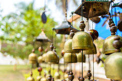 Brass bells mobile hanging Royalty Free Stock Images