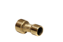 Brass bend for mounting the faucet Stock Photos
