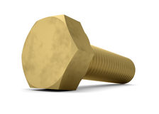 Brass bolt. Render on a white background Stock Image