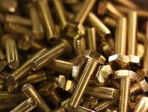 Brass bolts A Royalty Free Stock Image