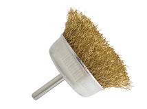 Brass brush for drill Royalty Free Stock Image