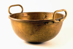 Brass bucket Royalty Free Stock Images