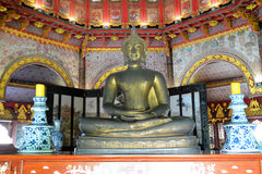 Brass budda statue Royalty Free Stock Images
