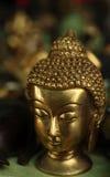 Brass Buddha head Royalty Free Stock Image