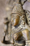 Brass Buddha profile Royalty Free Stock Photo