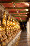 Brass buddha. In Wat suthat Bangkok Thailand. Here is destinations of landmarks traveler stock photography