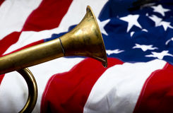 Brass Bugle. Stock Photography
