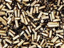 Brass bullet shells Stock Photography