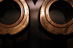 Brass bushings Royalty Free Stock Images
