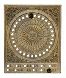 Brass calendar Stock Images
