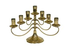 Brass candelabra Royalty Free Stock Image