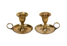 Brass candle holders Stock Image