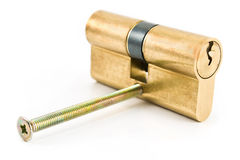 Brass cartridge cylinder Stock Photo