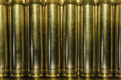 Brass Casings Background Stock Photography
