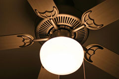 Brass ceiling fan Royalty Free Stock Images