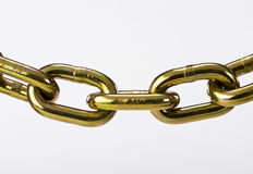 Brass Chain Stock Image
