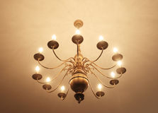 Brass chandelier Royalty Free Stock Photography