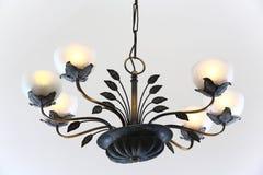 Brass chandelier Stock Image