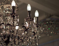 Brass chandelier with crystal. Stock Photography
