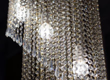 Brass chandelier with crystal. Royalty Free Stock Images
