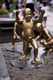 Brass Children Statue Royalty Free Stock Photo