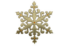 Brass christmas snowflake Royalty Free Stock Photography